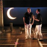 100 Aspects of the Moon pictured: Joanna P. Adler, Chris Wells, Gibson Frazier; photo by Carl Skutsch