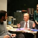 Quail pictured: Benjamin Pelteson, Gerry Bamman, Elizabeth Meriwether; photo by Carl Skutsch