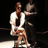 Roadkill Confidential pictured: Rebecca Henderson, Danny Mastrogiorgio; photo by: Carl Skutsch