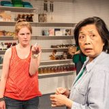 Ella Dershowitz and Mia Katigbak in CARD AND GIFT. Photo by Joseph Bensimon.