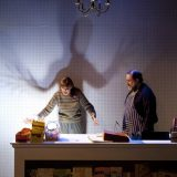 Connie Ray and Scott Sowers in CARD AND GIFT. Photo by Elke Young.