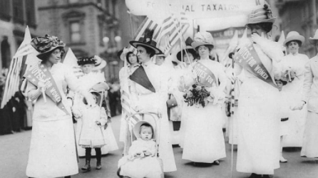 Women gain the right to vote federally with the passage of the 19th Amendment