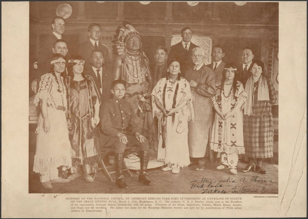 Zitkála-Šá founds the National Council of American Indians
