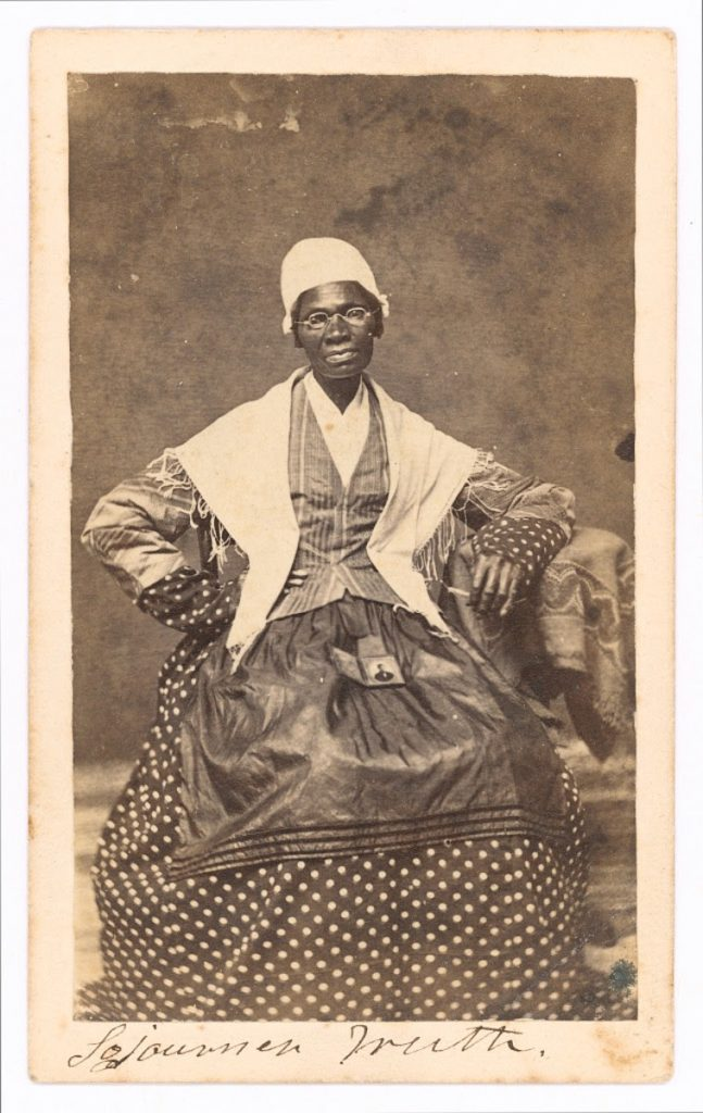 "Sojourner Truth delivers her famous speech entitled ""Ain't I a Woman?"""