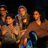 Enfrascada by Tanya Saracho, directed by Jerry Ruiz; featuring Christina Pumariega, Flora Diaz, Christina Pumariega, Jessica Pimentel; photo by: Carl Skutsch