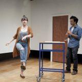 Brooke Bloom and Nick Choksi in in D DEB DEBBIE DEBORAH. Photo by Elke Young.