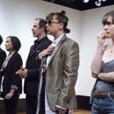 Nick Choksi, Stacey Yen, Geoff Sobelle, Kate Benson, and Brooke Bloom in D DEB DEBBIE DEBORAH. Photo by Elke Young.